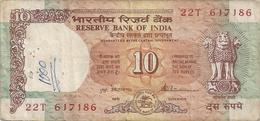 RESERVE BANK OF INDIA . 10 RUPPEES .  1992  .  N° 22T 6J7186   .  2 SCANES - Inde