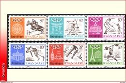 Rwanda 0263/68**  Jeux Olympiques De Mexico  MNH - Rwanda