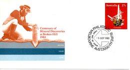 AUSTRALIE. Entier Postal Avec Oblitération 1er Jour De 1983. Cerusite. - Minéraux
