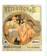 Publicite - Champagne Heidsieck Monopole - Vieilles Affiches 1800-1900 - Voir Scans Recto-Verso - Pubblicitari