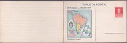 Entier Postal Stationery (Tarjeta Postal) Republica Argentina - Carte D'Argentine + Démographie à L'intérieur - Entiers Postaux