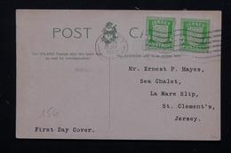 JERSEY - Affranchissement Occupation Sur Carte Postale En 1942 - L 20897 - Jersey