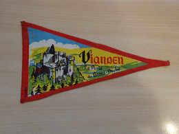 Fanion Touristique Luxembourg VIANDEN (vintage Années 60) - (Vaantje - Wimpel - Pennant - Banderin) - Obj. 'Souvenir De'