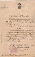 VP14.221 - 1889 - Lettre De Mr Le Maire De VERSAILLES Pour Mr BURCKART Marchand De Fromages.....à PARIS - Vieux Papiers