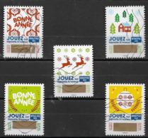 France 2018 Oblitéré Autoadhésif  N° 1641 - 1642 - 1644 - 1645 - 1647  -   Timbre à Gratter - Adhesive Stamps