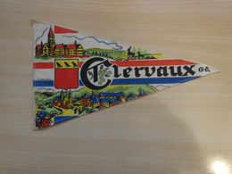 Fanion Touristique Luxembourg CLERVAUX  (vintage Années 60) - (Vaantje - Wimpel - Pennant - Banderin) - Obj. 'Souvenir De'
