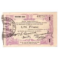 59 - 02 - 60 NORD AISNE OISE - 1 FRANC 24.10.1915 - SPL - - 1871-1952 Anciens Francs Circulés Au XXème