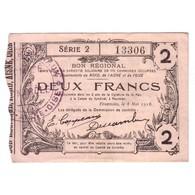 59 - 02 - 60 NORD AISNE OISE - 2 FRANCS 08.05.1916 - SUP - - 1871-1952 Anciens Francs Circulés Au XXème
