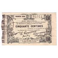 59 - 02 - 60 NORD AISNE OISE - 50 CENTIMES 24.10.1915 - SUP - - 1871-1952 Anciens Francs Circulés Au XXème