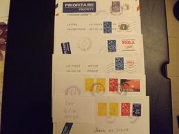 (L2-10) Timbres  PERSONNALISES Marianne Lamouche Sur  6 Lettres POUR LE PORTUGAL   Tres Bon Etat - France