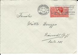 SBK J83, Mi 316 Winterthur 1 - Briefe U. Dokumente