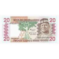 SIERRA LEONE - 20 LEONES - 24/08/1984 - NEUF - - Sierra Leone