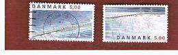 DANIMARCA (DENMARK)  -   SG 1141.1142 -  1998 GREAT BELT BRIDGE: ROAD SECTION  (COMPLET SET OF 2)  - USED ° - Danimarca