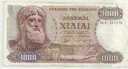 REPUBLIQUE DE GRECE . 1.000 DRACHMAI .  1-11-1970  . N° 34A 551718   .  2 SCANES - Grèce