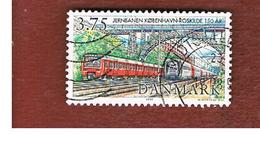 DANIMARCA (DENMARK)  -   SG 1118 -  1997 125^ ANNIVERSARY OF DANISH RAILWAYS  - USED ° - Usati
