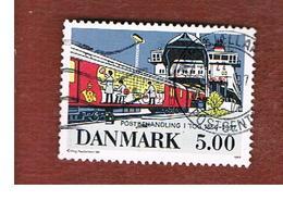 DANIMARCA (DENMARK)  -   SG 1122 -  1997 POST OFFICE CARS ON FERRY  - USED ° - Danimarca
