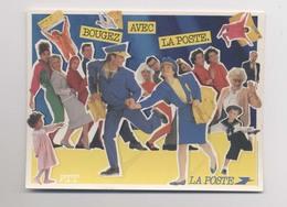 PUBLICITÉ LA POSTE - Bougez Avec La Poste - PTT - Avril 1986 - Facteur - Factrice - Animée - Poste & Facteurs