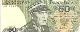 BANK POLSKI . 50 ZLOTYCH . 1-12-1988 . N° HG 4496774   .  2 SCANES - Pologne