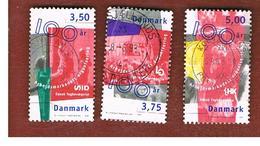 DANIMARCA (DENMARK)  -   SG 1131.1134 -  1998  TRADE UNIONS CENTENARY              - USED ° - Usati