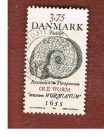 DANIMARCA (DENMARK)  -   SG 1153 -  1998    FOSSILS: AMMONITE           - USED ° - Usati