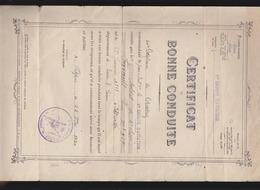 Aviation Militaire - Certificat De Bonne Conduite - 1er Groupe D'aviation, Dijon 1920 - Segné De Chassey - Diplômes & Bulletins Scolaires