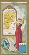Chromo Potage PERLES DU JAPON  ( Carte Géographique ) Département De L' Aisne - Chromos