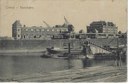Crefeld   -   Rheinhafen   -   (Kreukje In Hoek) 1919   Naar   Bruxelles - Krefeld