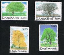 DANIMARCA (DENMARK)  -   SG 1159.1162 -  1999  DECIDUOSUS TREES           - USED ° - Usati