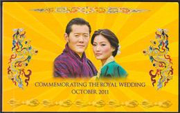 Bhutan 100 Ngultrum 2011 UNC Commemorative Note In Folder S/number RW 0181181 - Bhutan
