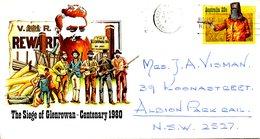 AUSTRALIE. Entier Postal Ayant Circulé. Siège De Glenrowan. - Militaria