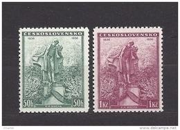 Czechoslovakia 1936 MNH ** Mi 345-346 Sc 213-214 K.H.Macha. - Czechoslovakia