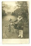 FANTAISIE CARTE PHOTO JOUET CHEVAL TRICYCLE ATTELAGE ENFANT - Jeux Et Jouets