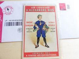 Les Liqueurs D Alexandre Bos Publicité Barsac Quinquina La Vraie Rivale Publicité - Publicité