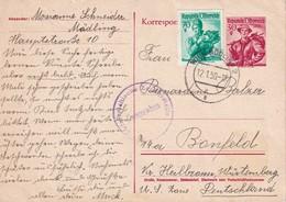 AUTRICHE 1950     ENTIER POSTAL/GANZSACHE/POSTAL STATIONERY CARTE CENSUREE DE WIEN-MÖDLING - Enteros Postales