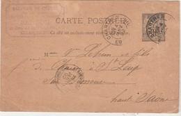 Carte Commerciale 1892 / Entier / Fabrique Chaises SANSON / Rue De La Clouterie / 18 Chartres - Cartes