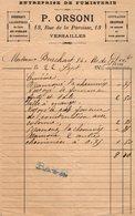 VP14.224 - Facture - Entreprise De Fumisterie P. ORSONI à VERSAILLES - France