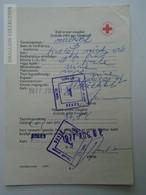 ZA155.28  Health Care Document  Úttörő Pioneer  Camp  - Hungary 1977 Red Cross -Croix Rouge - Croce Rossa - Unclassified