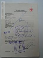 ZA155.29  Health Care Document  Úttörő Pioneer  Camp  - Hungary 1977 Red Cross -Croix Rouge - Croce Rossa - Vieux Papiers