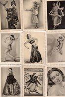 9 Petites Photos De Danseuses, Collection Gold Saba, 4 X 6 Cm - Identified Persons