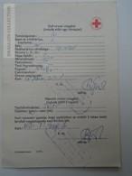 ZA155.30  Health Care Document  Úttörő Pioneer  Camp  - Hungary 1977 Red Cross -Croix Rouge - Croce Rossa - Old Paper