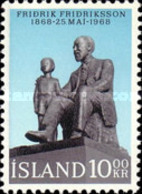 USED STAMPS Iceland - Statue Of The Vicar And Writer Fridrik  - 1968 - 1944-... Republik