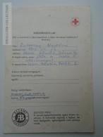 ZA155.31  Health Care Document  Úttörő Pioneer  Camp  - Hungary 1977 Red Cross -Croix Rouge - Croce Rossa - Vieux Papiers