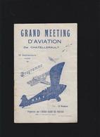 Aviation - Programme Meeting Chatellerault Sept 1928 - A.Bolland, M.Detroyat, Chaunac-Lanzac, J.Vollat, R.Payet, R.Pasqu - Programs