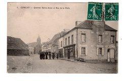 CPA 89 - Corlay - Quartier Sainte Anne Et Rue De La Halle , Commerce Temps Des Cerises - France