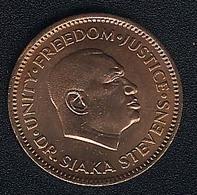 Sierra Leone, 1/2 Cent 1980, UNC - Sierra Leone