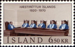 USED STAMPS Iceland - The 50th Anniversary Of The Icelandic Supreme Court- 1970 - 1944-... Republik