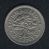 Sierra Leone, 5 Cents 1964, UNC - Sierra Leone