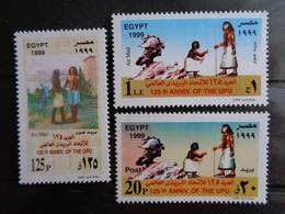 EGYPTE 1999 MICH N° 1447 à 1449 ** - 125e ANNIV. DE L'U.P.U - Egypte