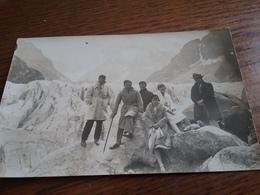 Carte Photo à Identifier Mer De Glace - Postcards