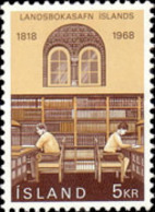 USED STAMPS Iceland - The 150th Anniversary Of The National Library- 1968 - 1944-... Republik